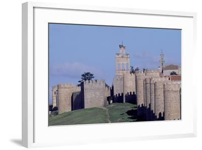 Spain, Castile and Leon, Avila, Medieval City Walls--Framed Giclee Print