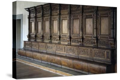 Carved Wooden Stalls, 1534-1535--Stretched Canvas Print
