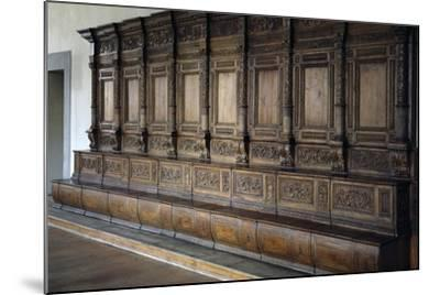 Carved Wooden Stalls, 1534-1535--Mounted Giclee Print