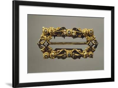 Enamelled Gold Buckle--Framed Giclee Print