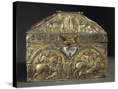 Embossed Silver Reliquary of Saint Stanislaus, 12th Century--Stretched Canvas Print
