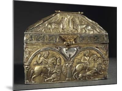 Embossed Silver Reliquary of Saint Stanislaus, 12th Century--Mounted Giclee Print