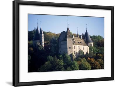 Chateau De La Rochepot, Burgundy, France, 13th-19th Century--Framed Giclee Print