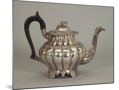 Silver Neapolitan Teapot with Panel Shaped Stands--Mounted Giclee Print