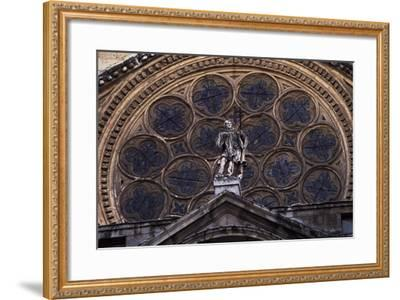 Rosette Above Door of Clock of Primate Cathedral of St Mary, Toledo, Castile-La Mancha, Detail--Framed Giclee Print