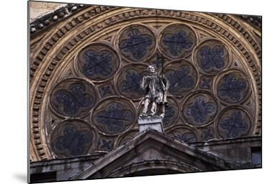 Rosette Above Door of Clock of Primate Cathedral of St Mary, Toledo, Castile-La Mancha, Detail--Mounted Giclee Print