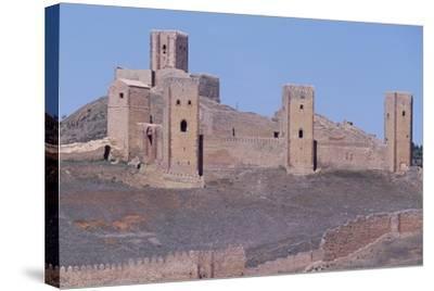 Spain, Castile-La Mancha, Molina De Aragon, Tower of Aragon and Castle of Molina De Aragon--Stretched Canvas Print