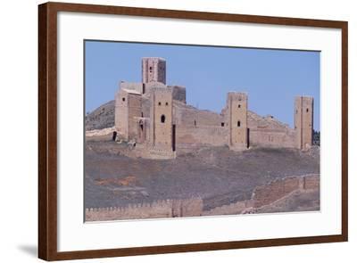 Spain, Castile-La Mancha, Molina De Aragon, Tower of Aragon and Castle of Molina De Aragon--Framed Giclee Print