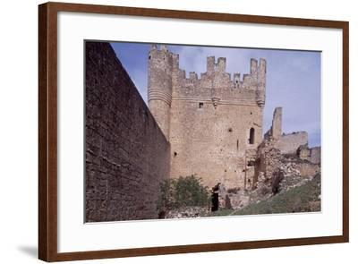Spain, Castile and Leon, Ruins of Berlanga De Duero Castle--Framed Giclee Print