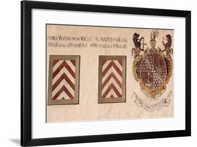 Decorative Crests, Hauterive Cistercian Abbey, Canton of Fribourg, Switzerland--Framed Giclee Print