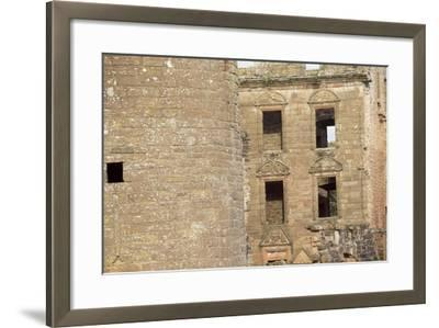 View of the Courtyard of Caerlaverock Castle, Near Dumfries, Dumfries and Galloway--Framed Giclee Print
