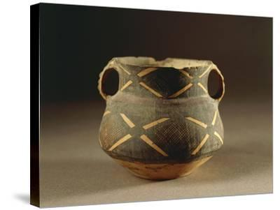 Painted Ceramic Vessel in Ma-Tchang Style from China, 2nd Millennium B.C.--Stretched Canvas Print