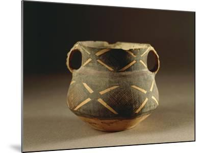 Painted Ceramic Vessel in Ma-Tchang Style from China, 2nd Millennium B.C.--Mounted Giclee Print