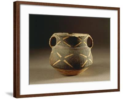 Painted Ceramic Vessel in Ma-Tchang Style from China, 2nd Millennium B.C.--Framed Giclee Print