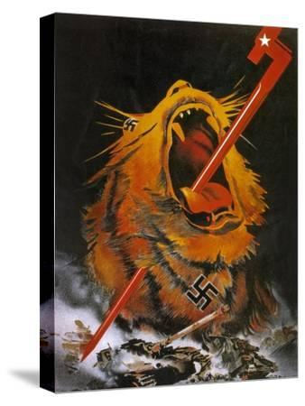 """Kill the Savage Beast!""1941--Stretched Canvas Print"