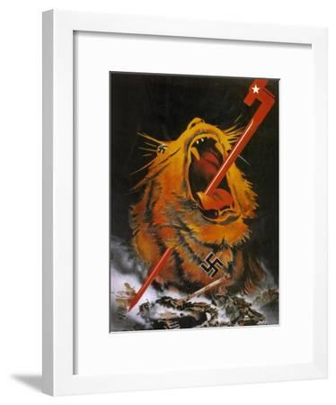 """Kill the Savage Beast!""1941--Framed Giclee Print"
