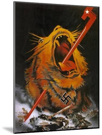 """Kill the Savage Beast!""1941--Mounted Giclee Print"