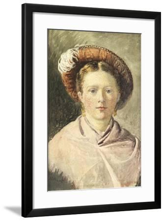 Lady in a Feathered Hat-William Henry Hunt-Framed Giclee Print