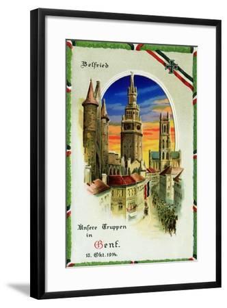 """""""Our Troops in Ghent"""", 12th October, 1914--Framed Giclee Print"""