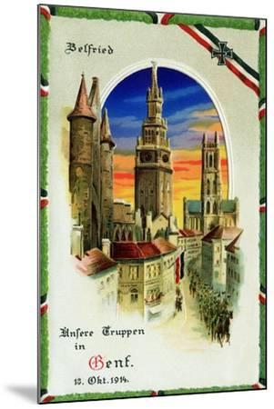 """""""Our Troops in Ghent"""", 12th October, 1914--Mounted Giclee Print"""