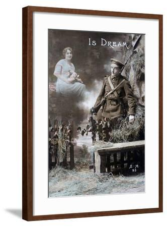 His Dream, 1915--Framed Giclee Print