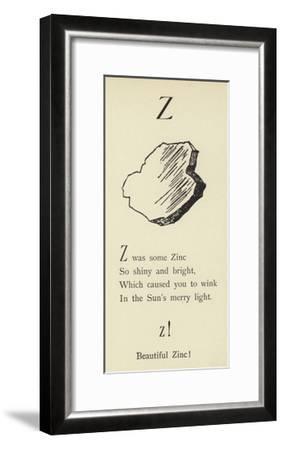 The Letter Z-Edward Lear-Framed Giclee Print