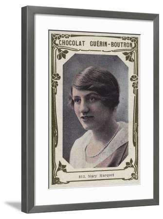 Mary Marquet--Framed Giclee Print