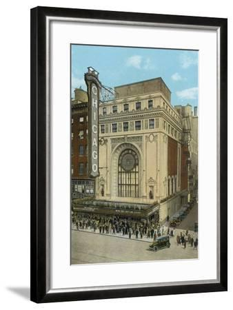 Chicago Theatre--Framed Photographic Print