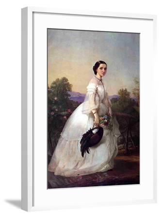 The Swedish Singer Jenny Lind, C.1852-Louis Lang-Framed Giclee Print