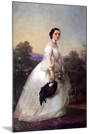 The Swedish Singer Jenny Lind, C.1852-Louis Lang-Mounted Giclee Print