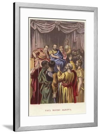 Paul before Agrippa--Framed Giclee Print