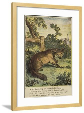 A Fox Jumped Up on a Moonlight Night--Framed Giclee Print