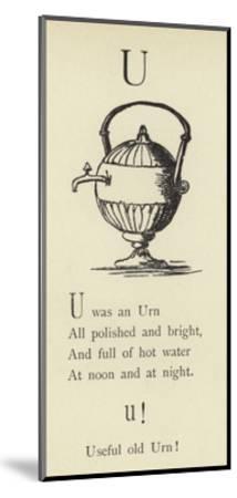 The Letter U-Edward Lear-Mounted Giclee Print