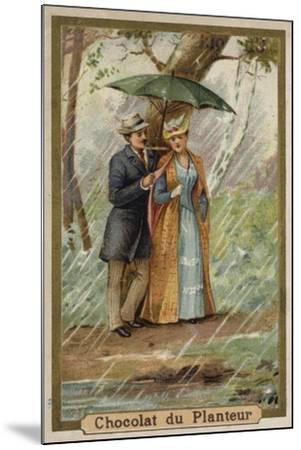 A Walk on a Rainy Day--Mounted Giclee Print