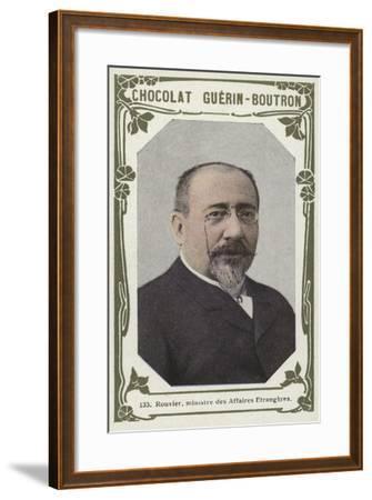 Rouvier, Ministre Des Affaires Etrangeres--Framed Giclee Print