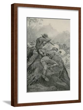 Attack on a Gold Escort-Stanley L^ Wood-Framed Giclee Print
