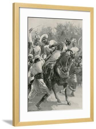Mahratta Freebooters on a Raiding Expedition-William Heysham Overend-Framed Giclee Print