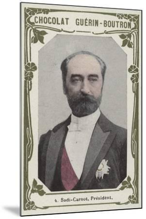 Sadi-Carnot, President--Mounted Giclee Print