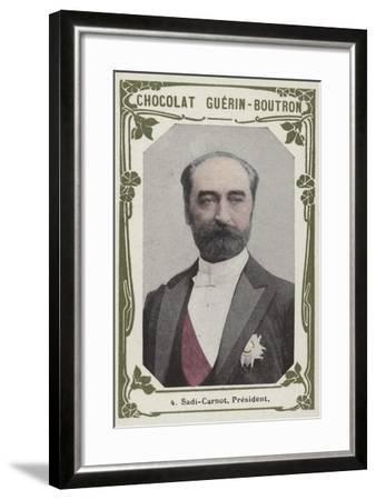 Sadi-Carnot, President--Framed Giclee Print