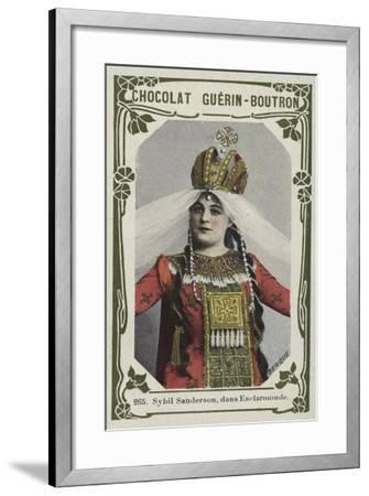 Sybil Sanderson, Dans Esclarmonde--Framed Giclee Print