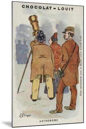 Astronome-Louis Borgex-Mounted Giclee Print