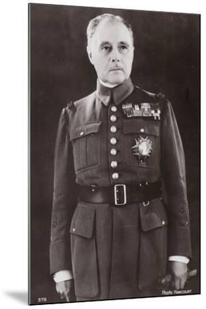 General Gamelin--Mounted Photographic Print