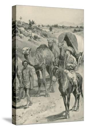 A Camel-Caravan, Western Australia-Walter Stanley Paget-Stretched Canvas Print