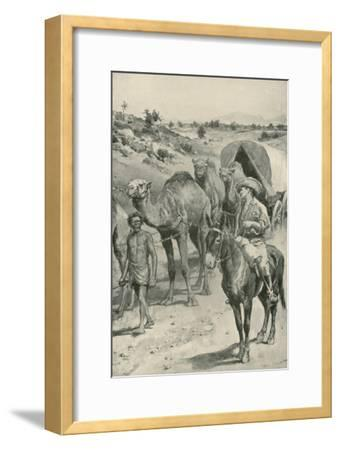 A Camel-Caravan, Western Australia-Walter Stanley Paget-Framed Giclee Print