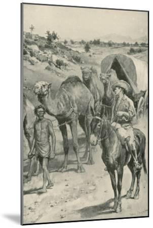 A Camel-Caravan, Western Australia-Walter Stanley Paget-Mounted Giclee Print