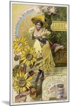 Yellow--Mounted Giclee Print