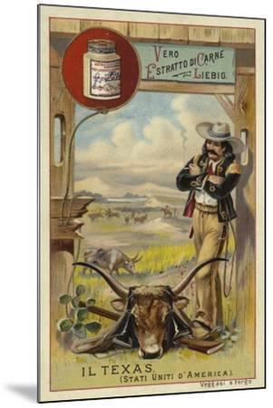 Texas--Mounted Giclee Print