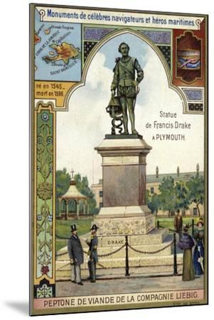 Statue of Sir Francis Drake, Plymouth--Mounted Giclee Print