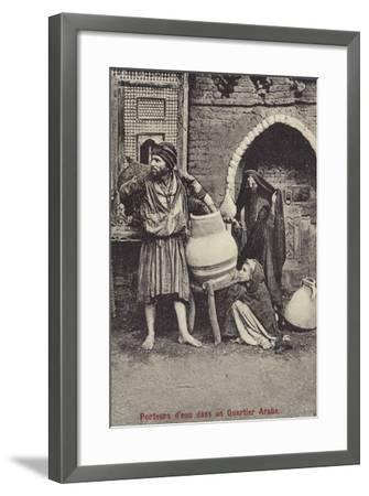 Water Carriers in the Arab Quarter--Framed Premium Photographic Print
