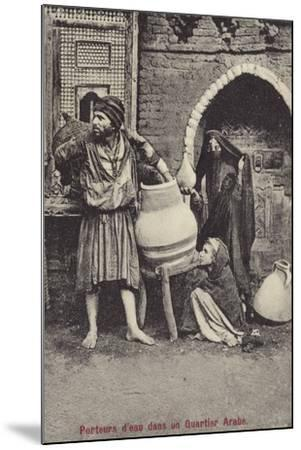 Water Carriers in the Arab Quarter--Mounted Photographic Print